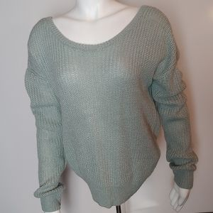 Charming Charlie Twist Back Sweater L NWT